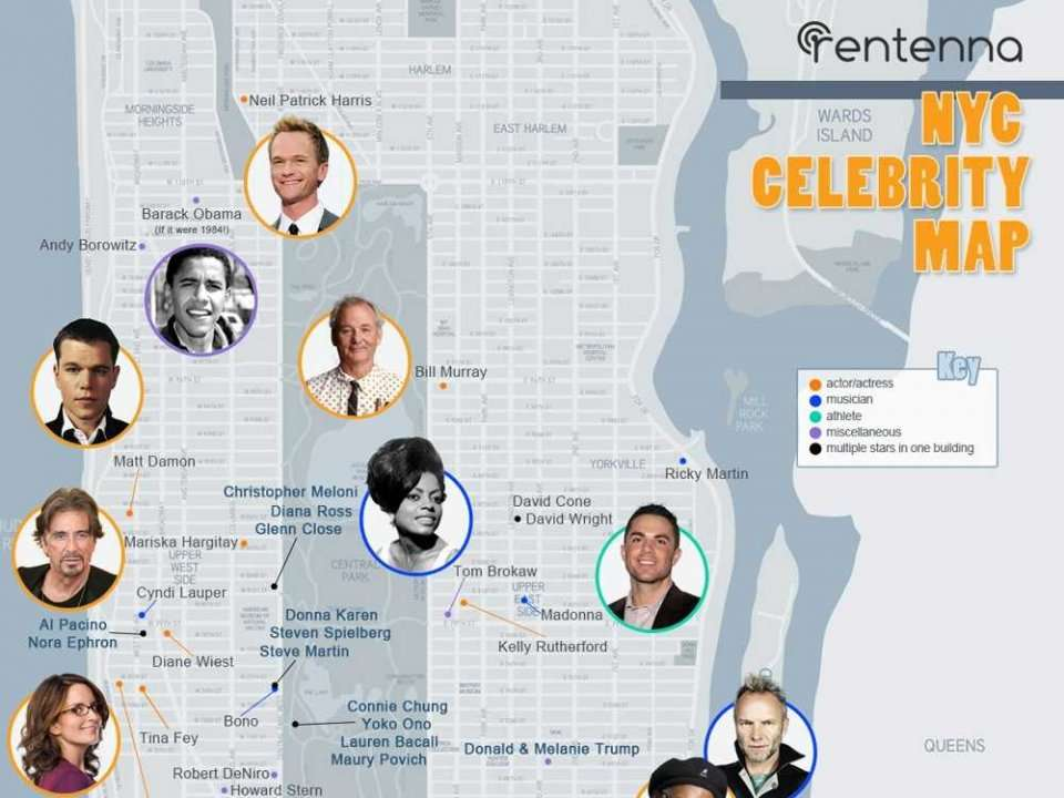 Here S A Handy Map Showing Where Celebrities Live In New York City Business Insider India