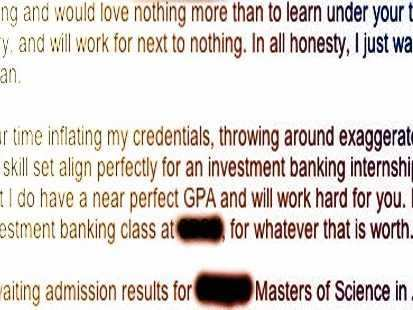 Kid Sends Perfectly Blunt Cover Letter For Wall Street Internship ...