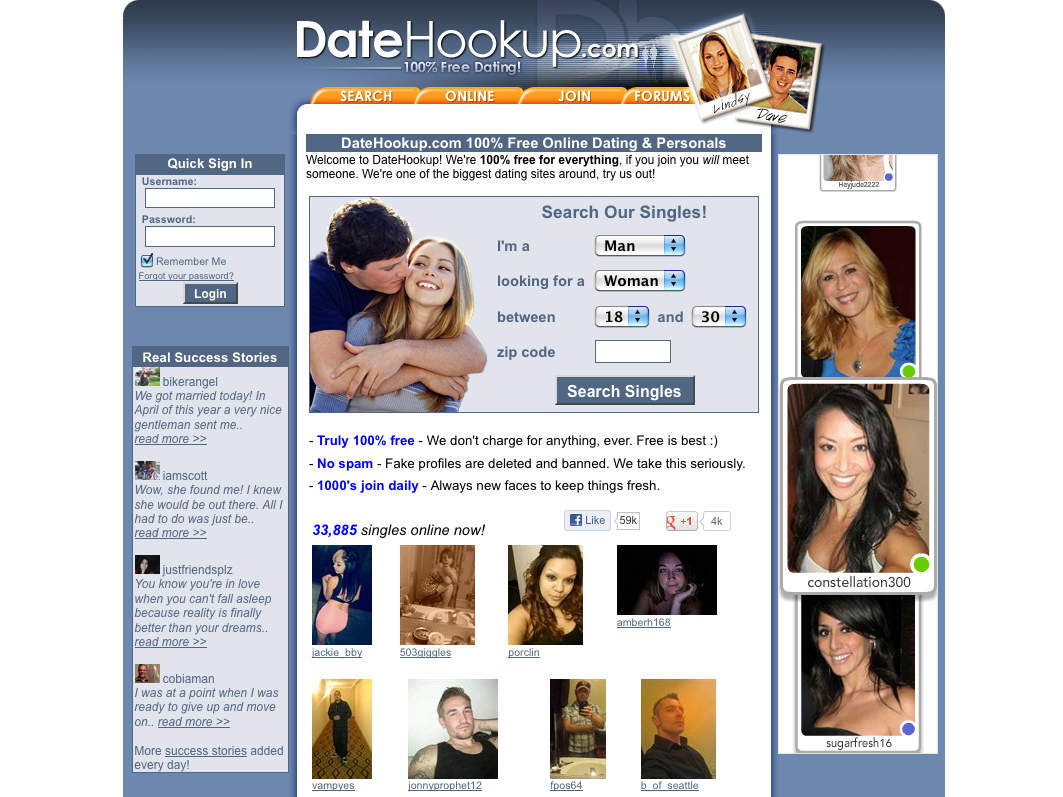 what hookup sites are real