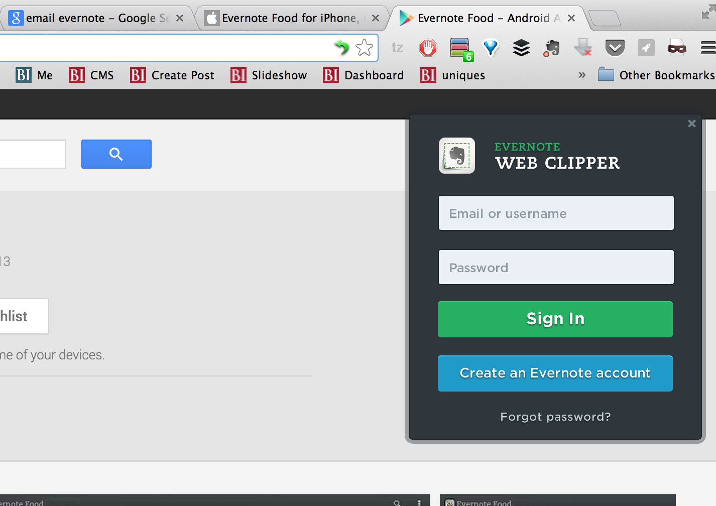 Use the Evernote Web clipper in your browser to quickly save