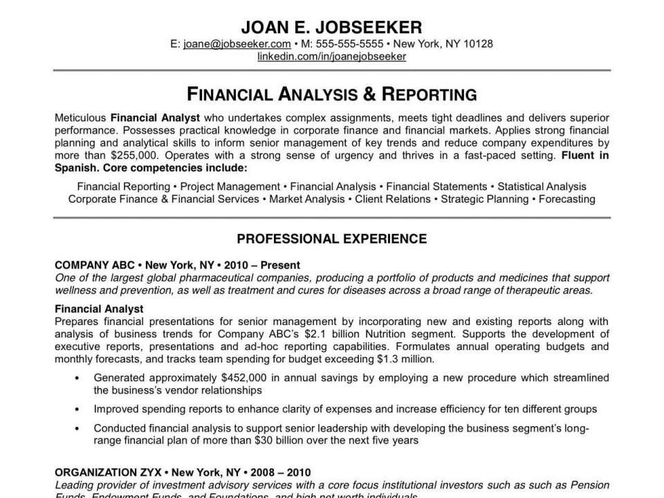 19 reasons why this is an excellent resume business insider india - Example Of A Excellent Resume