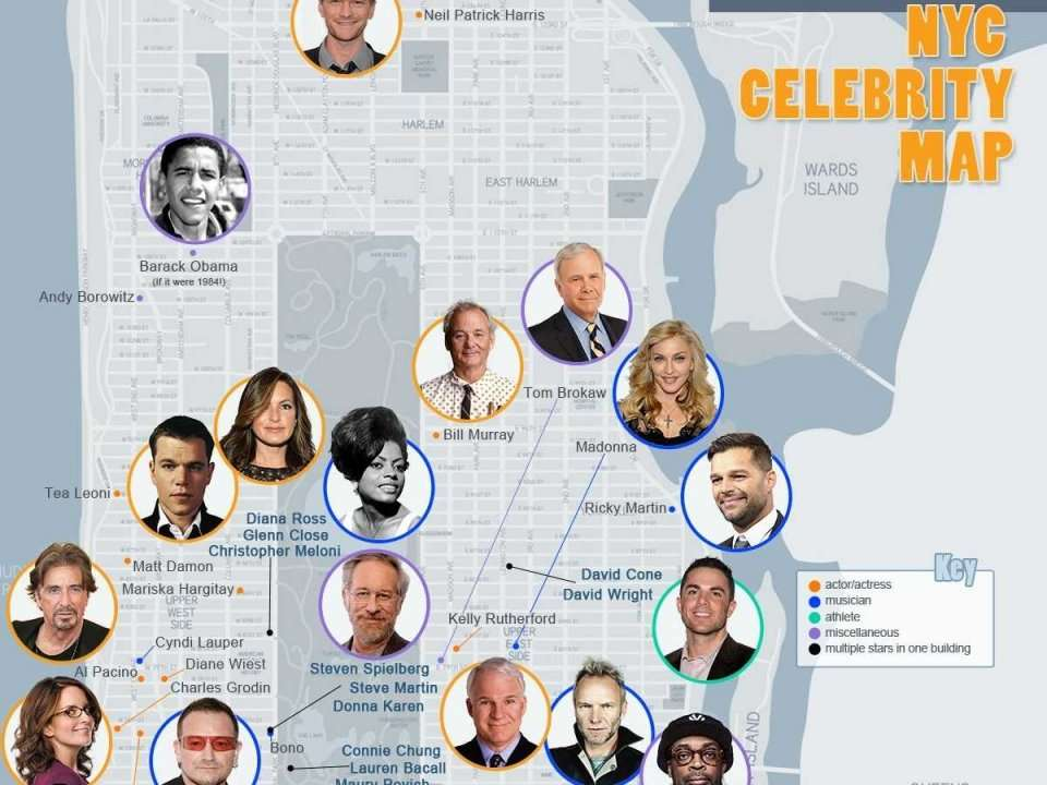 Star Map See Where Your Favorite Celebrities Live In New York City Business Insider India