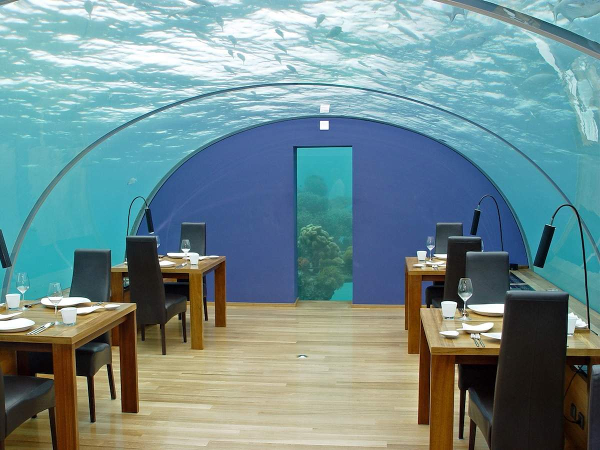 Meals at the Ithaa Undersea Restaurant at the Hilton