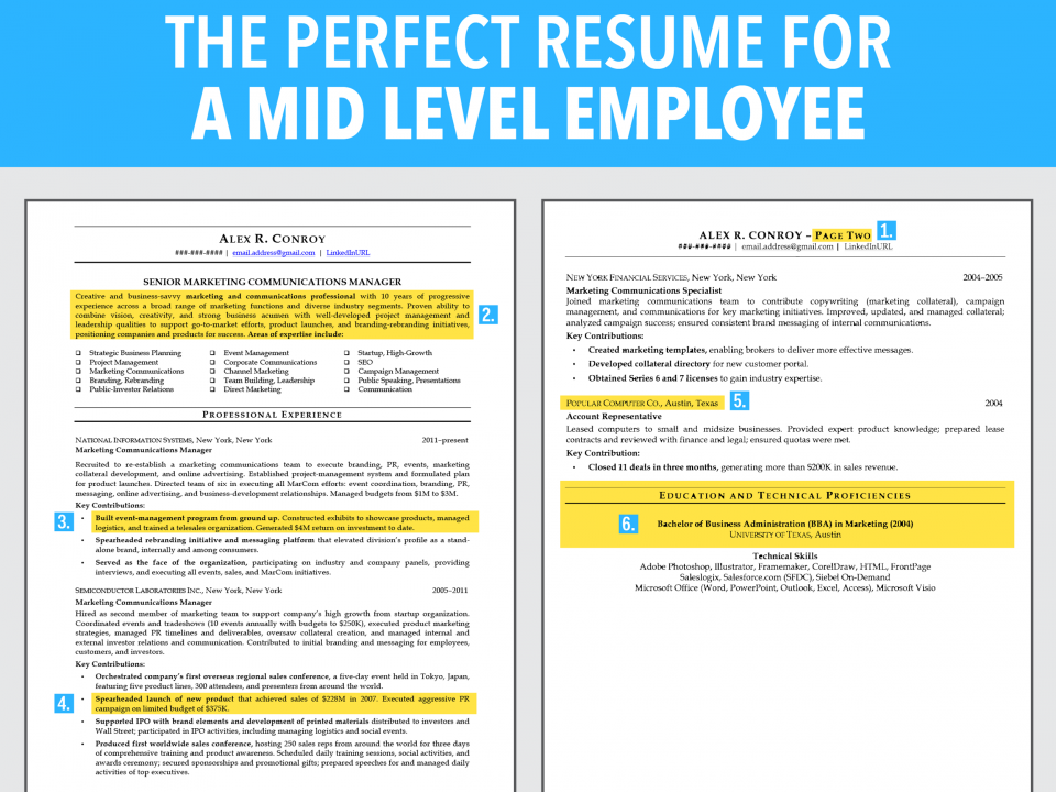 6 Reasons This Is An Excellent Resume For A Mid Level Employee | Business  Insider India  Mid Level Resume