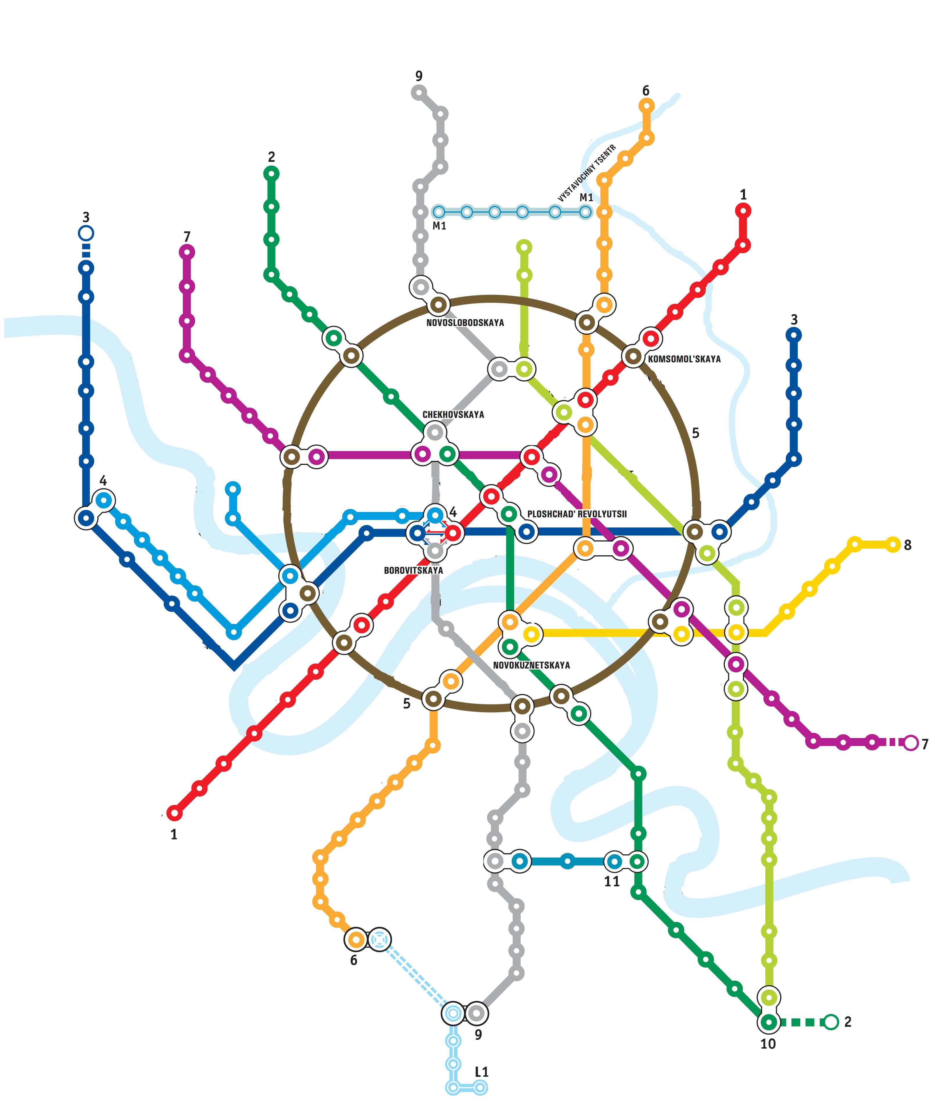 Печатать схема московского метрополитена