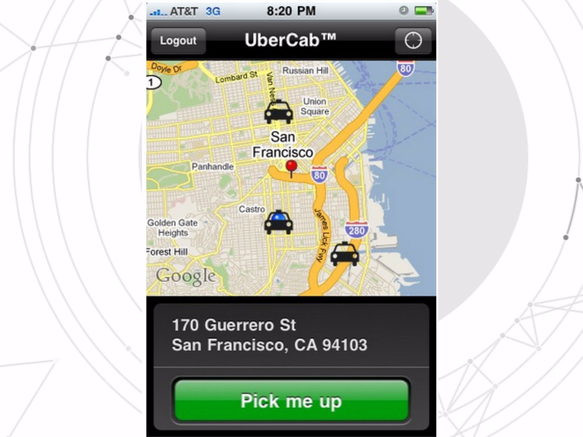Employees Are Shown A Screenshot Of Ubercab The Original Version Of Uber Business Insider India