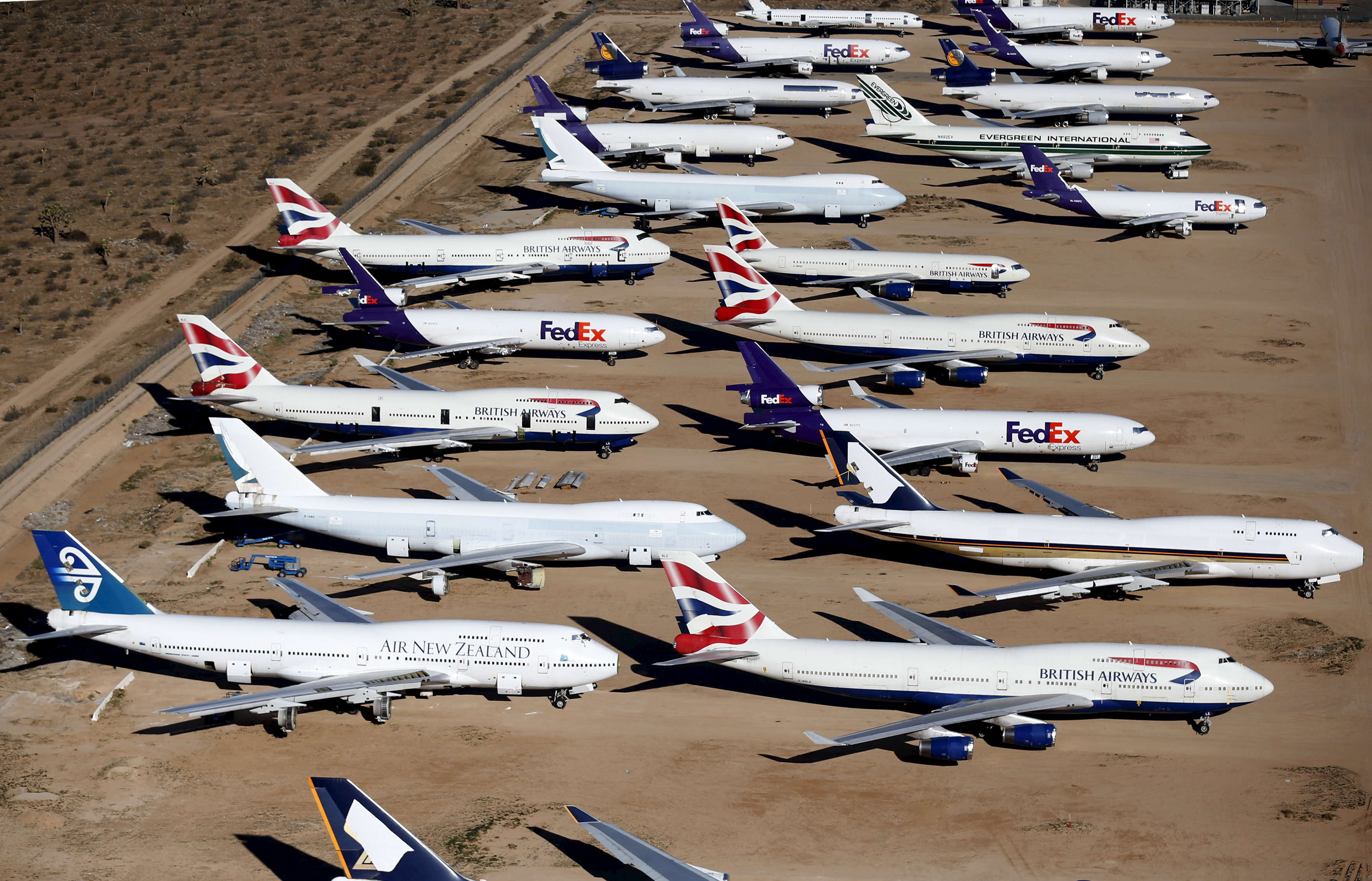 Southern California S Logistics Airport Official Boneyard For Yester Years Jumbo Jets
