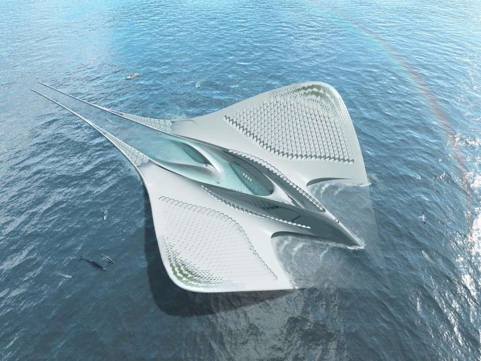 this manta ray looking thing might be the future of luxury c