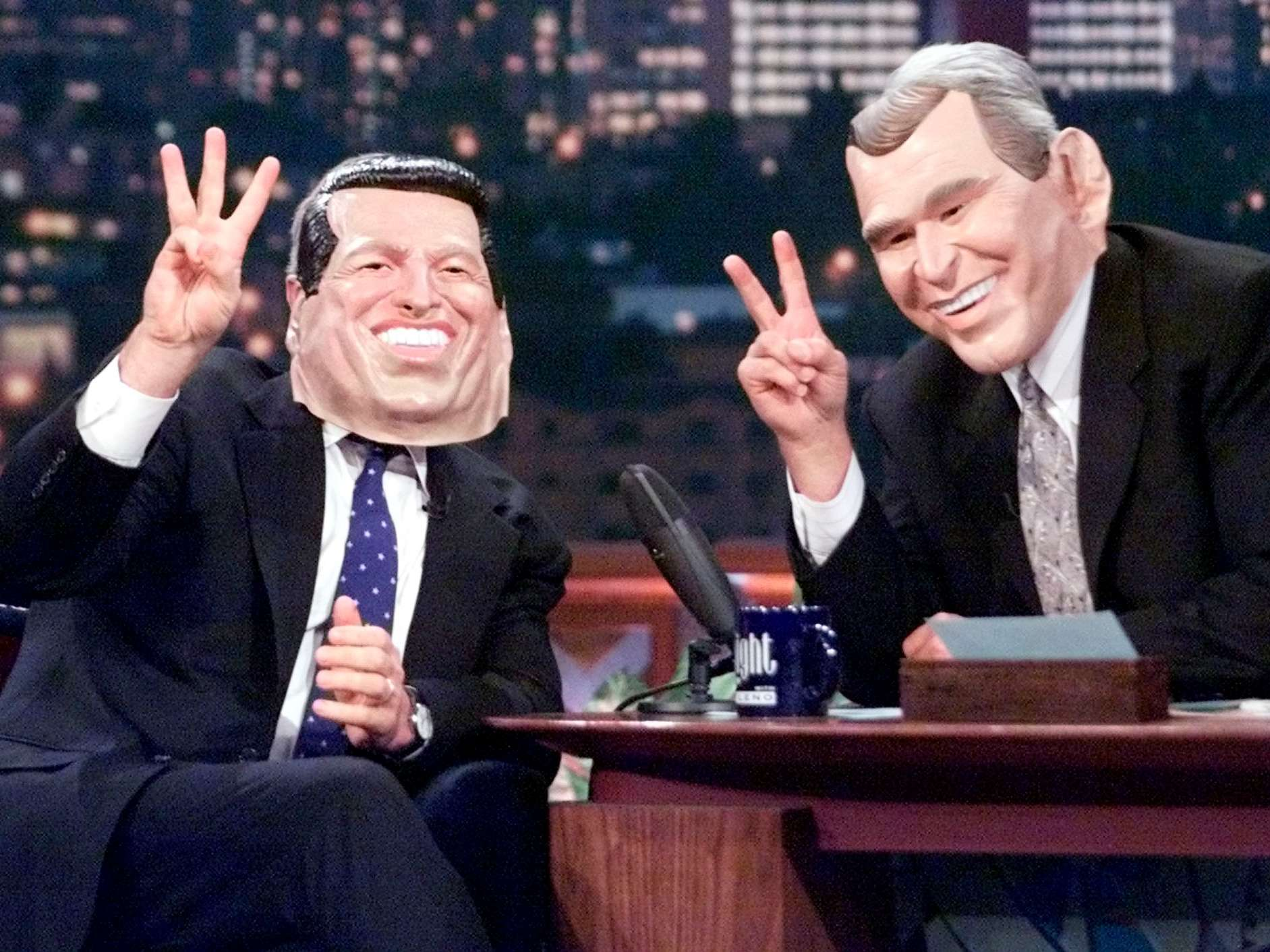 George W. Bush rocked an Al Gore mask during an appearance on ...