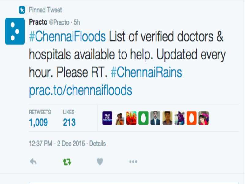 ChennaiFloods: Practo comes out with a spreadsheet with details of