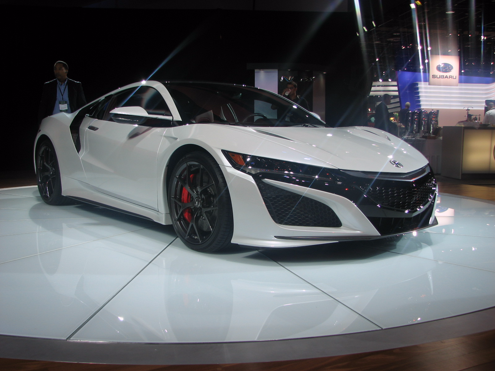 the acura booth also featured their new nsx sports car business insider india. Black Bedroom Furniture Sets. Home Design Ideas