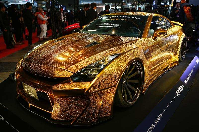 And a Nissan R35 GT-R was given a custom paint job so it appears to be ...