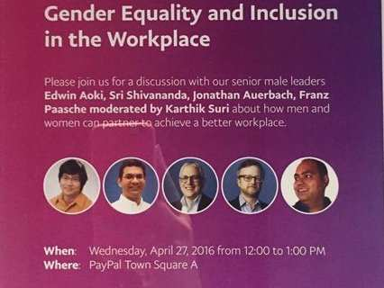 a discussion on gender equality in the workplace