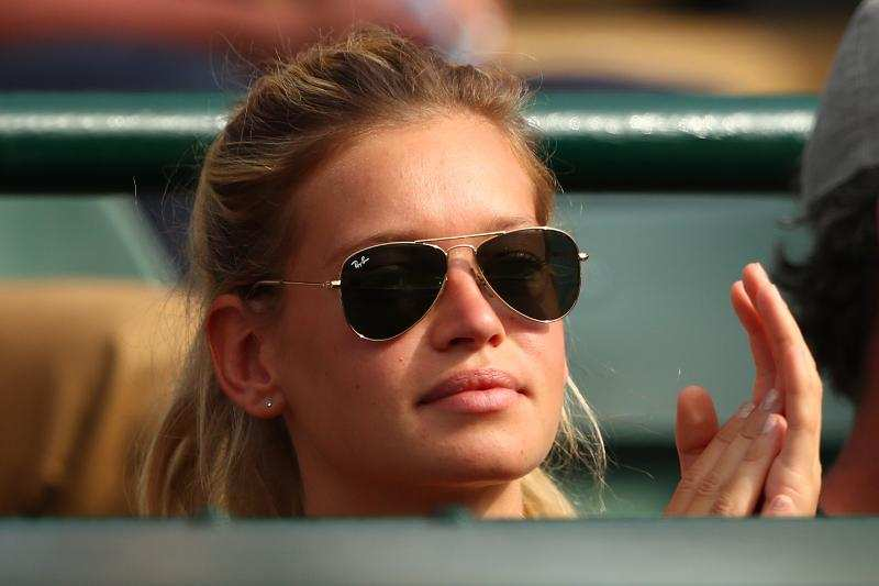 Enterprise Auto Finance >> Clemence Bertrand, the girlfriend of Lucas Pouille of France, cheered on her boyfriend with a ...