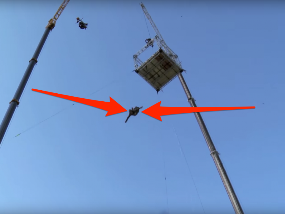 A stuntman did a 125-foot 'leap of faith' for the ...
