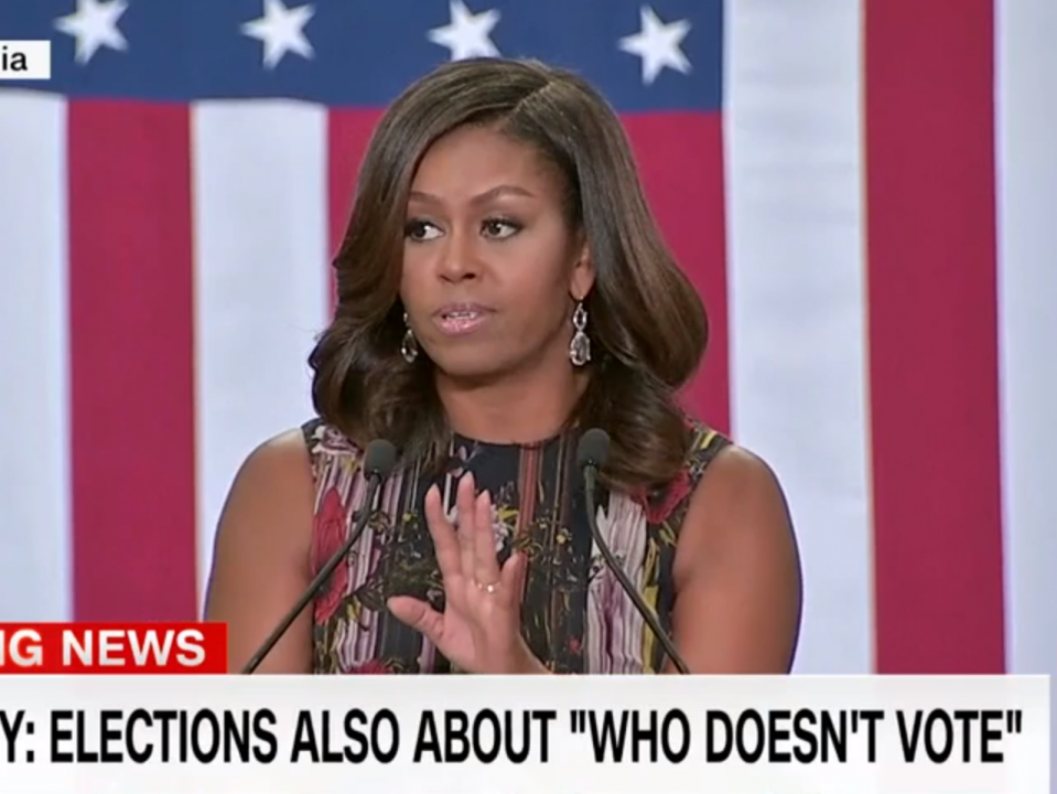 In passionate rebuke, Michelle Obama rips Trump for years of