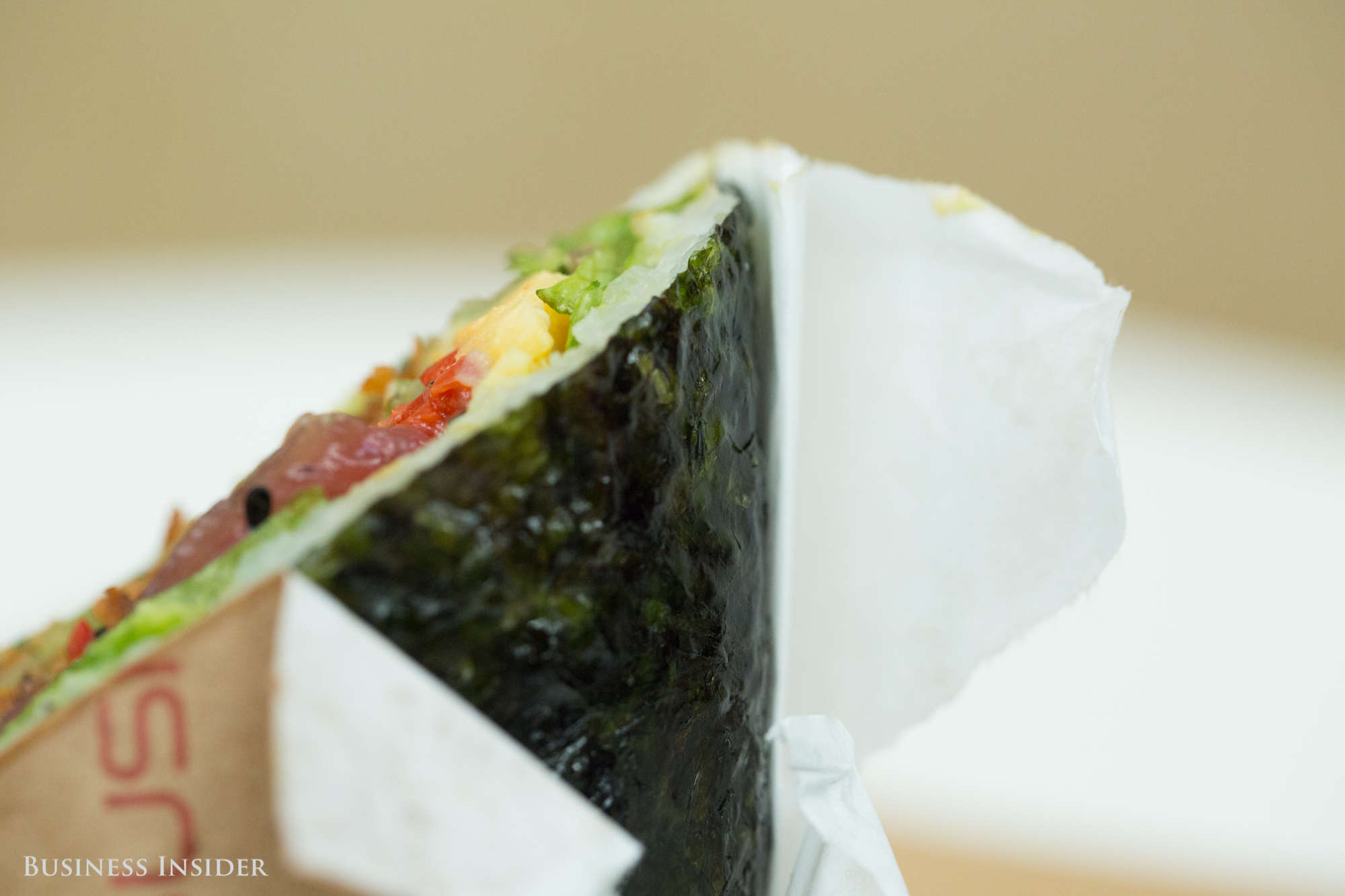 Seaweed Paper And White Rice Held Together The Tightly Packed