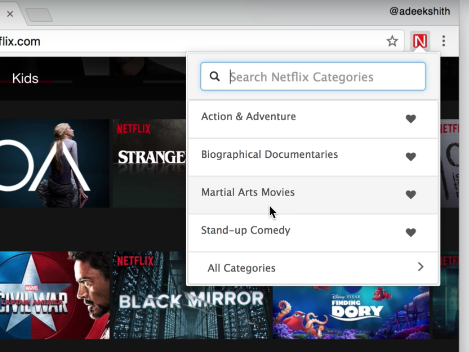 There's a new way to search Netflix's hundreds of secret categories