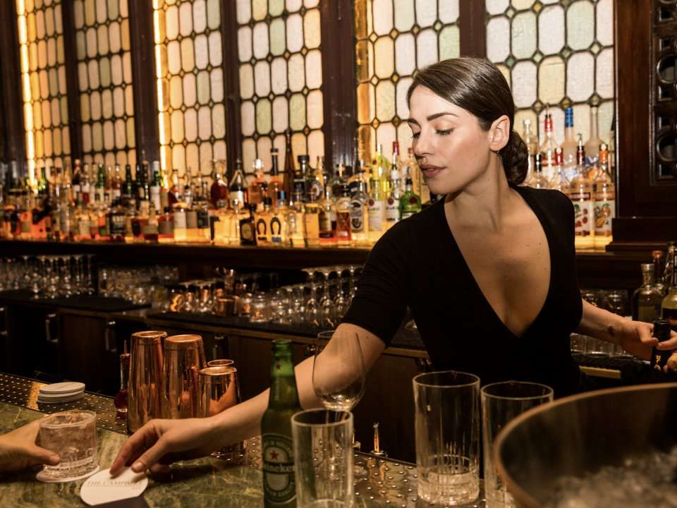 The one-time office of a millionaire railroad executive has been reborn as one of New York's hottest bars