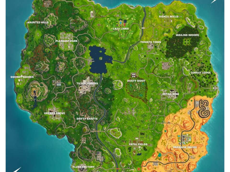 Here Are All The New Locations In The Updated Fortnite Map For