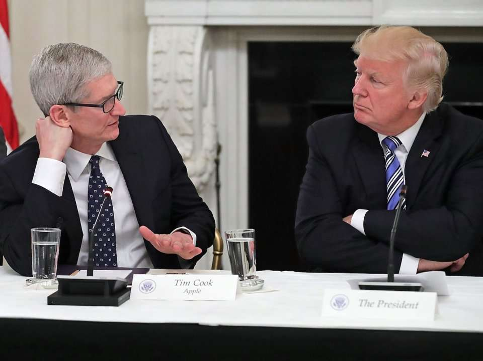 Trump suggests Apple could pay 'ZERO tax' if the company makes 'products in the United States instead of China'