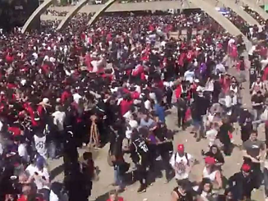 Reports of a shooting caused chaos at the Toronto Raptors' championship parade