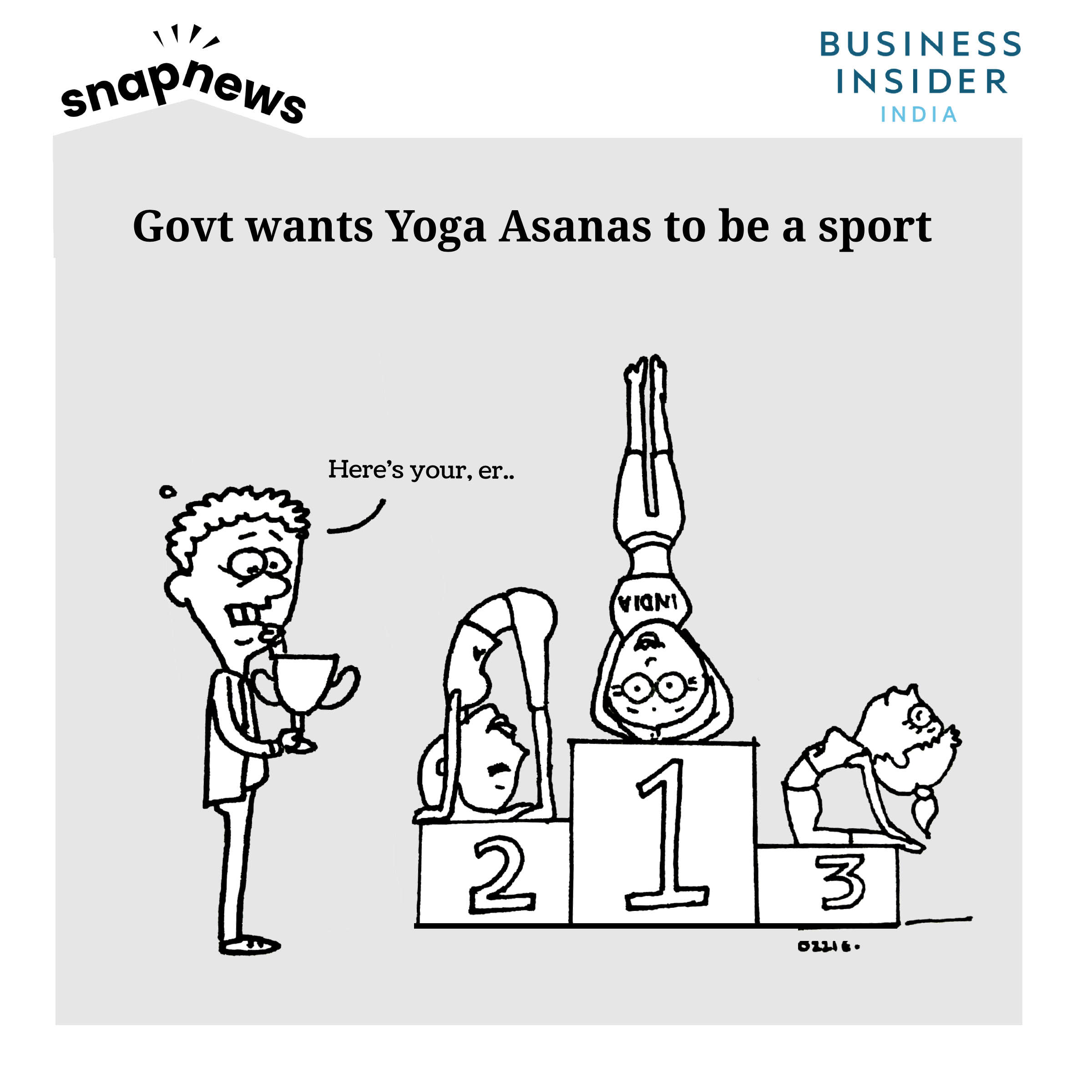 Indian government wants Yoga asanas to be a sport, and