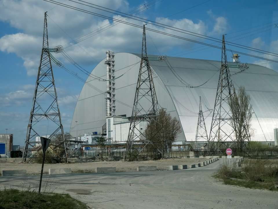 Chernobyl's 'sarcophagus,' which helped contain the spread