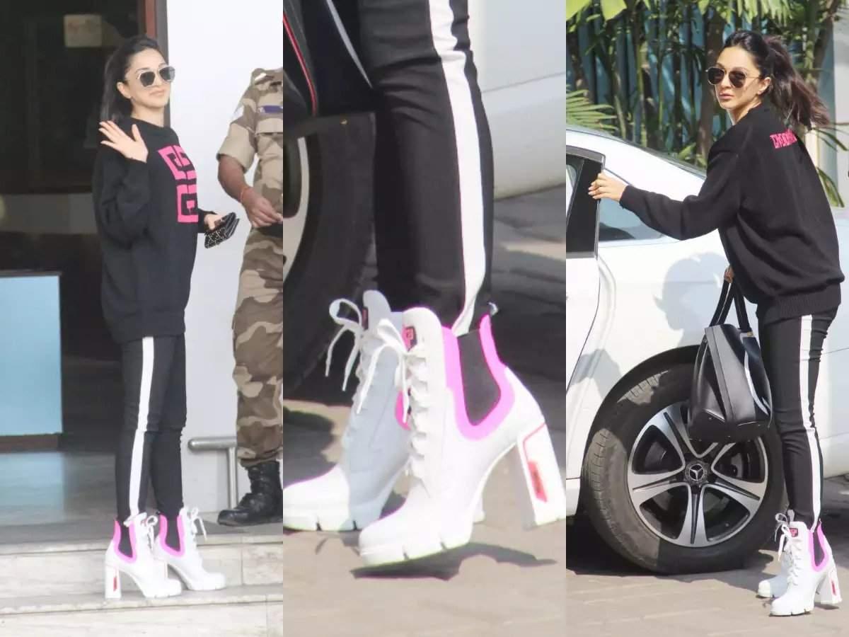 spotted wearing Prada sneaker heels