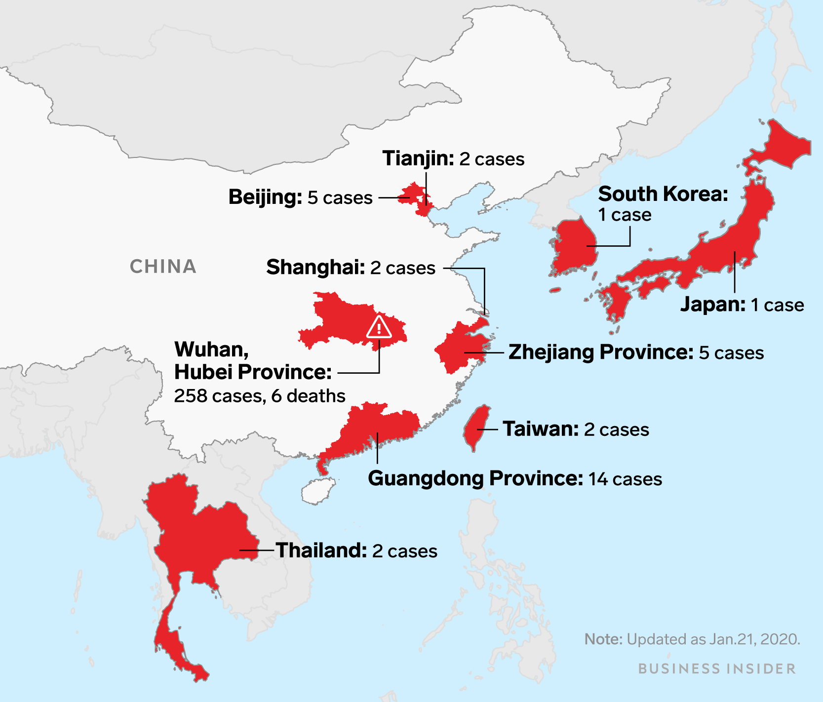Covid Map: Before The Wuhan Virus Reached The US, It Had Already