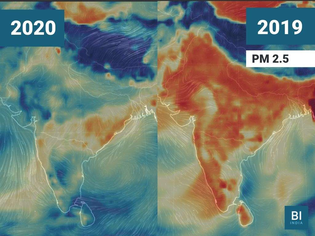 current weather map india Weather Maps Show How India S Coronavirus Lockdown Is Helping current weather map india