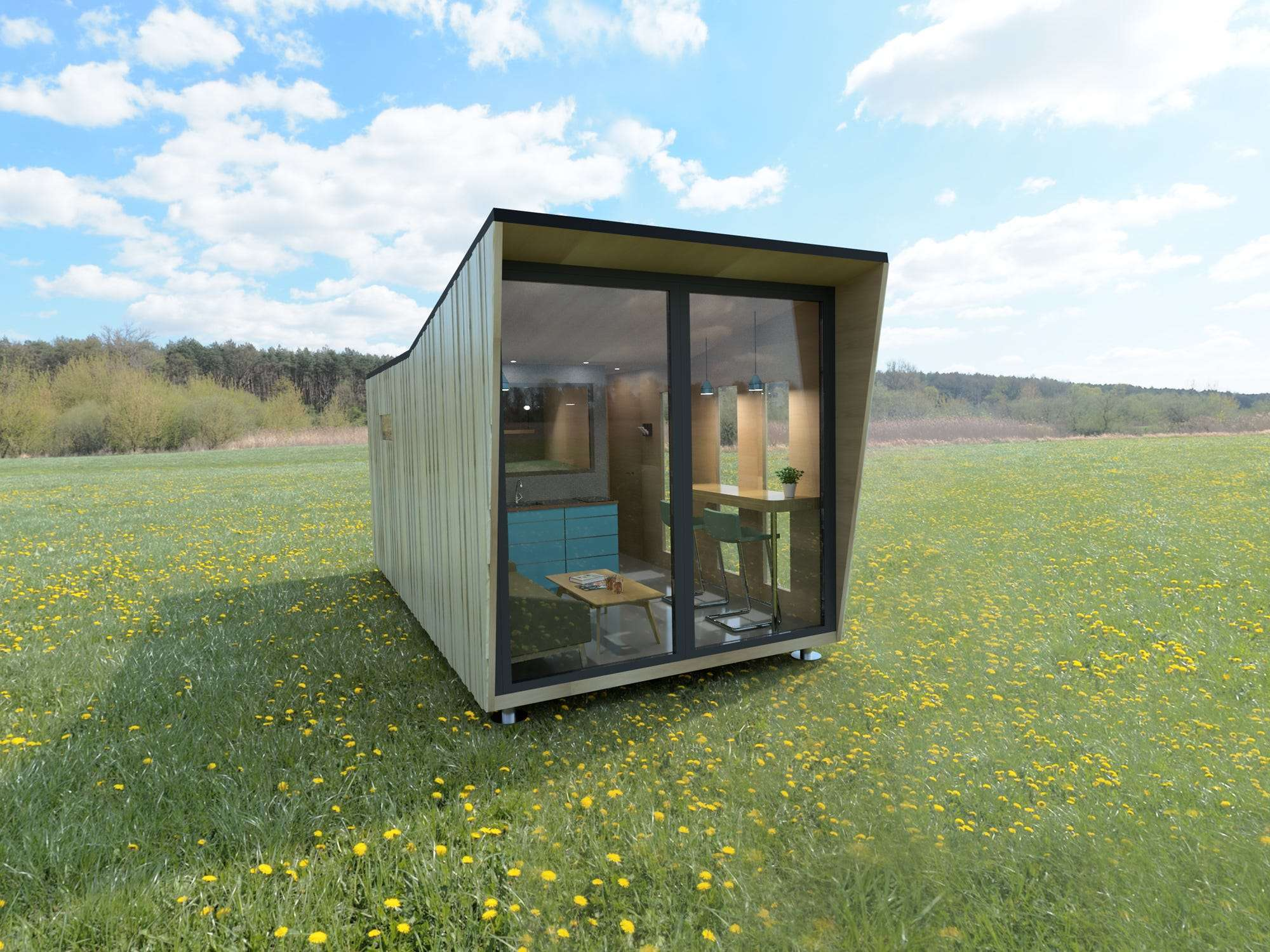 This Nano House On Wheels Has A Living Room Kitchen Bathroom And Bedroom Business Insider