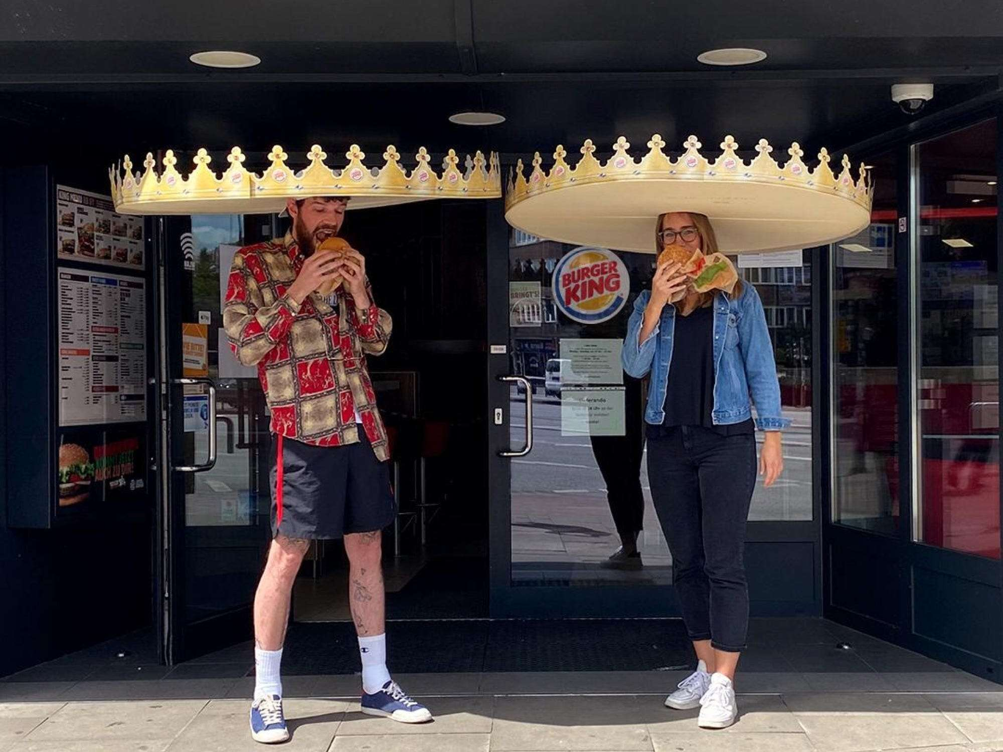 Burger King debuts 'social distance crowns' in Germany, as restaurants test quirky ways to keep customers apart