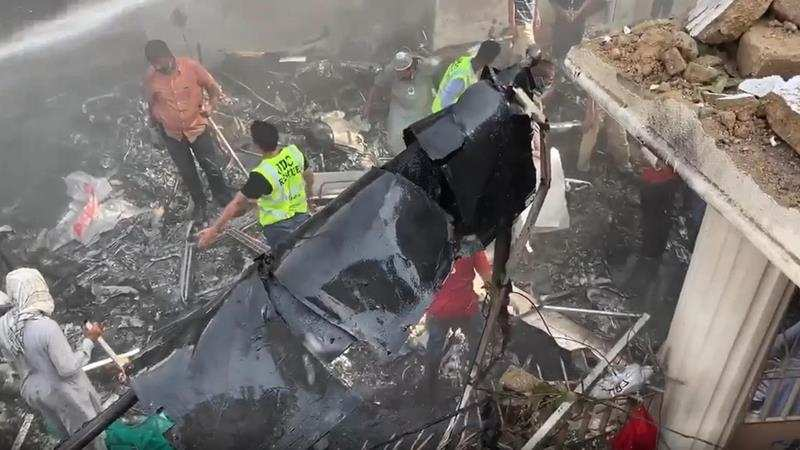 Death toll from Karachi plane crash rises to over 90