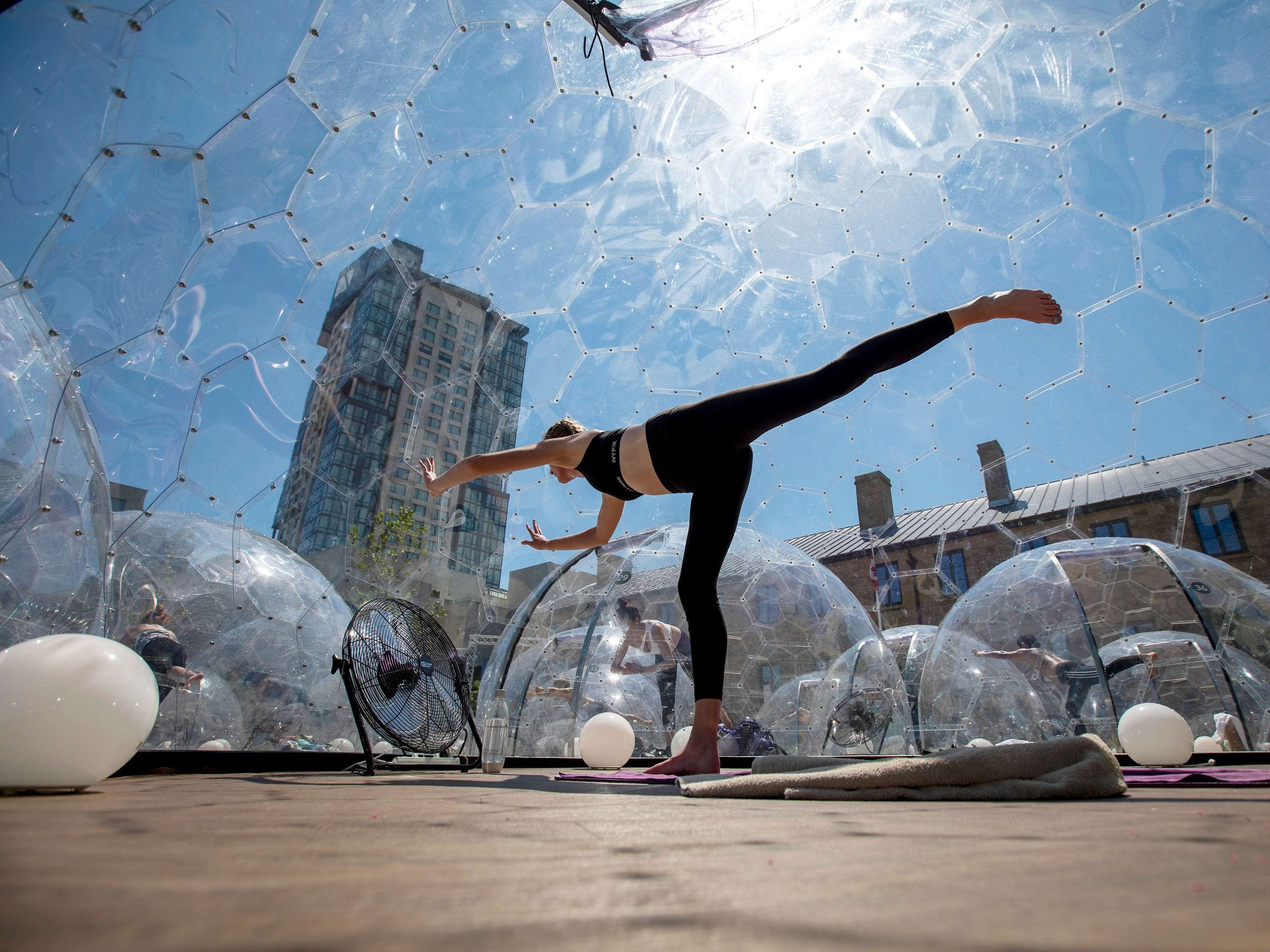 Giant Outdoor Domes Allow For Yoga While Social Distancing In Toronto Insider