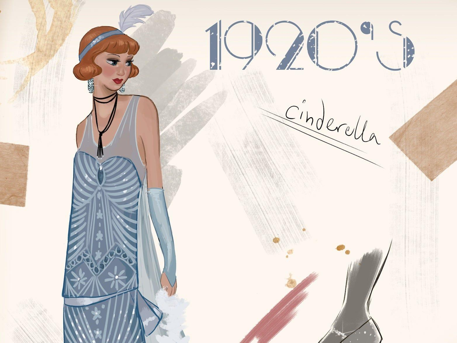 Artist Draws Disney Princess Outfits For Different Decades Insider