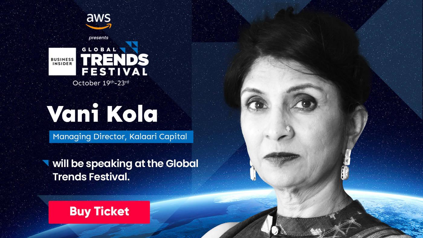 Meet Vani Kola, the unicorn hunter, at Global Trends Festival 2020