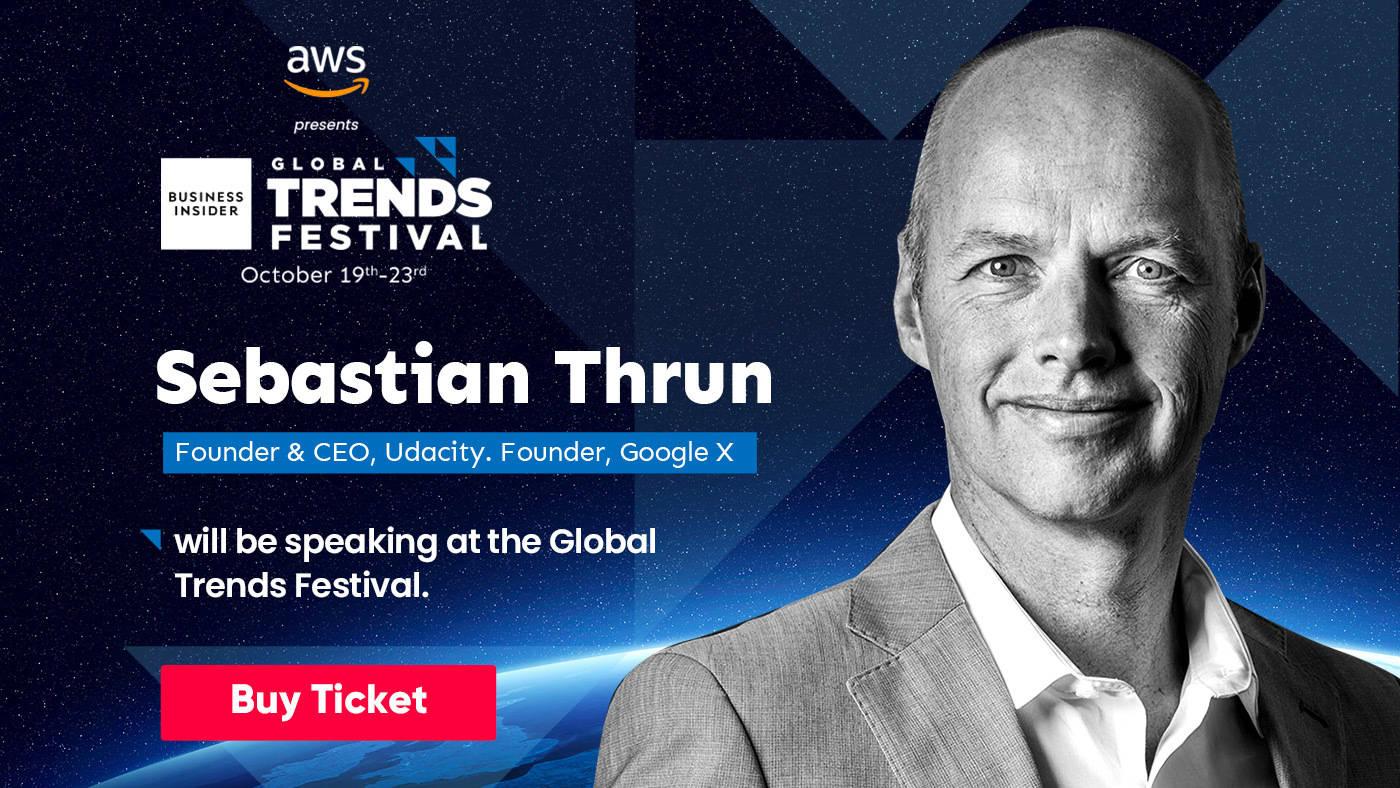 Sebastian Thrun to speak at the Business Insider Global Trends Festival 2020