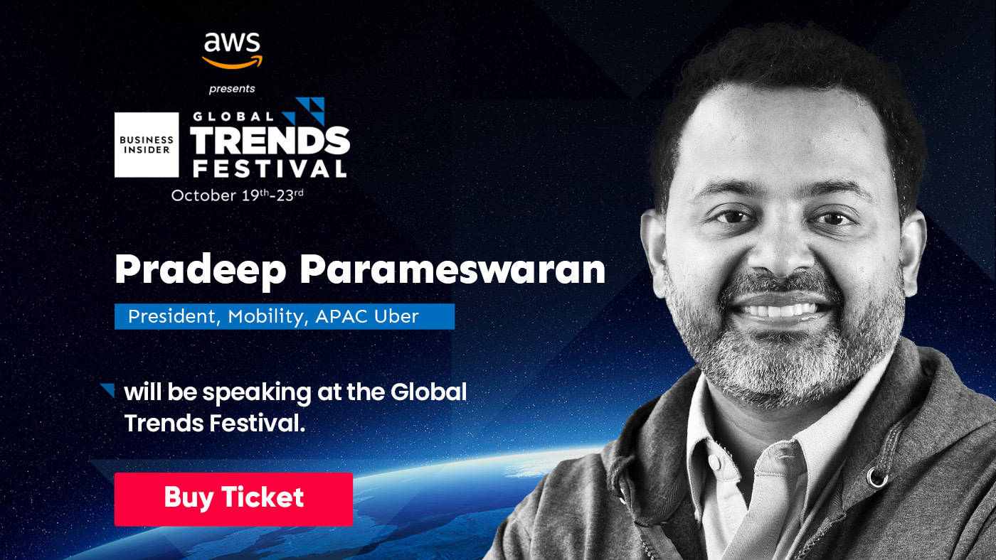 Watch Uber's APAC head Pradeep Parameswaran open up about sustainable mobility for all at the Global Trends Festival 2020