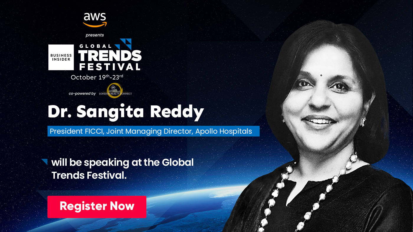 Watch Sangita Reddy, President, FICCI, speak about women entrepreneurship and economic leadership at the Global Trends Festival 2020