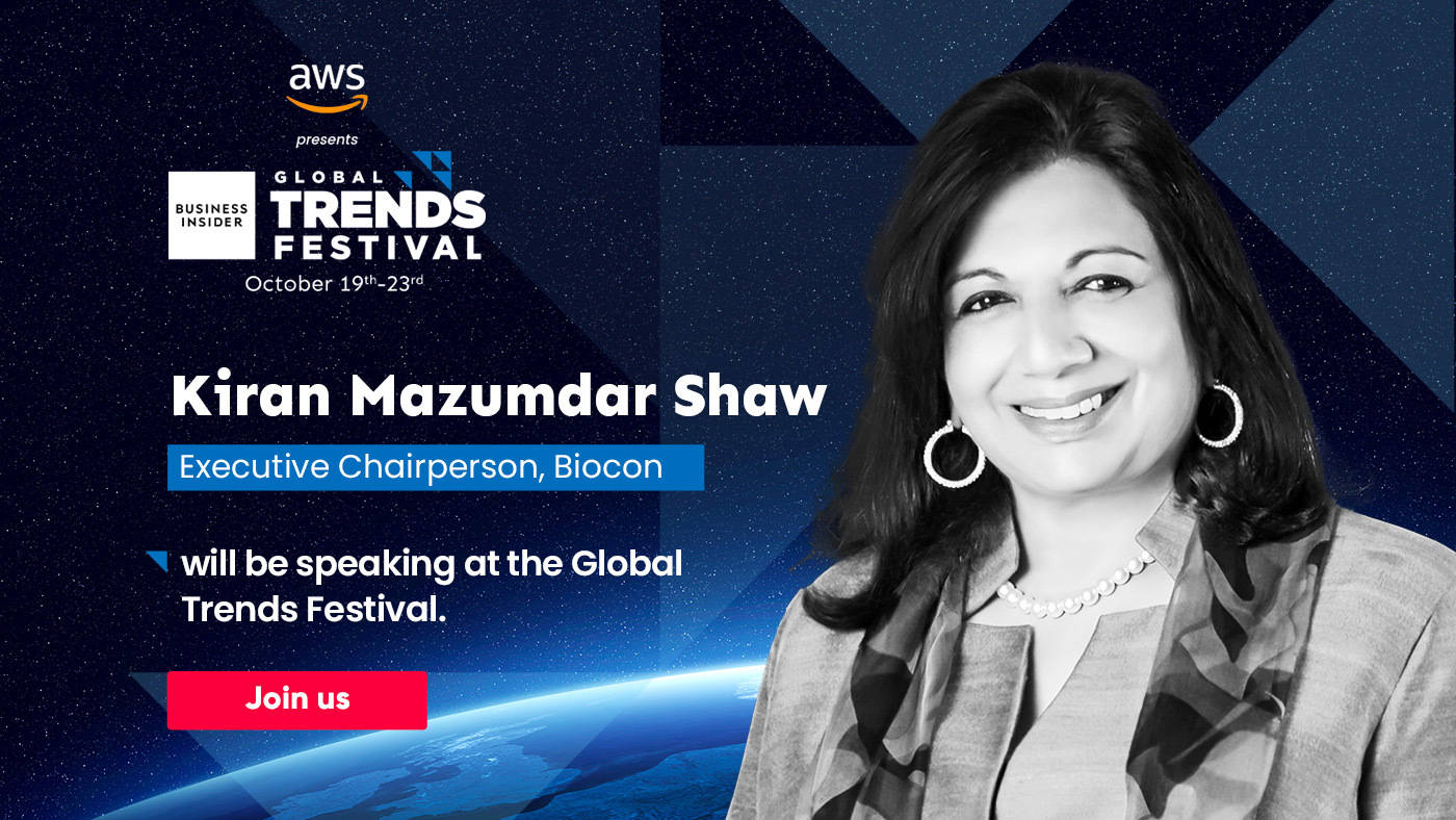 Catch Kiran Mazumdar Shaw at the Global Trends Festival 2020, speak about unlocking India's suppressed potential