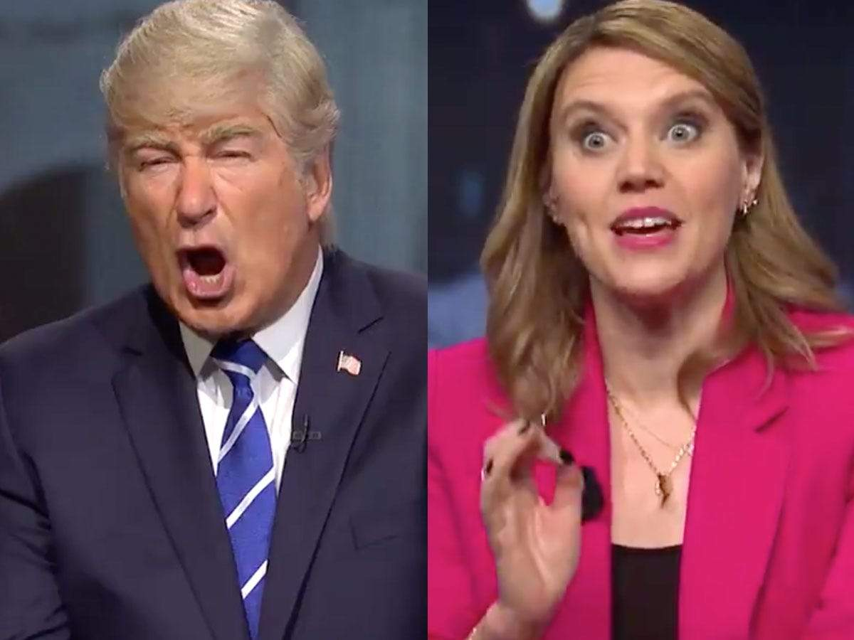 Snl Kate Mckinnon Plays Savannah Guthrie In Trump Town Hall Skit