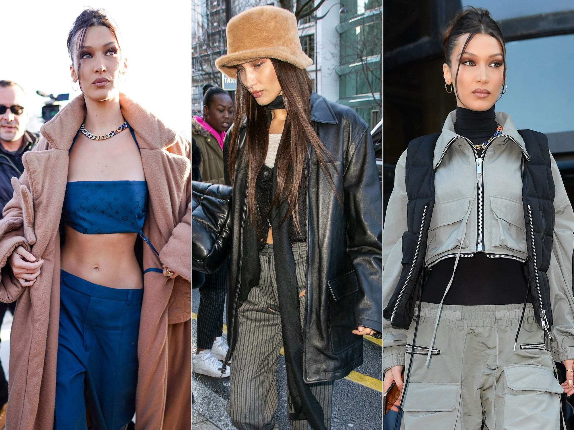 All the times Bella Hadid has embraced early 5s fashion trends