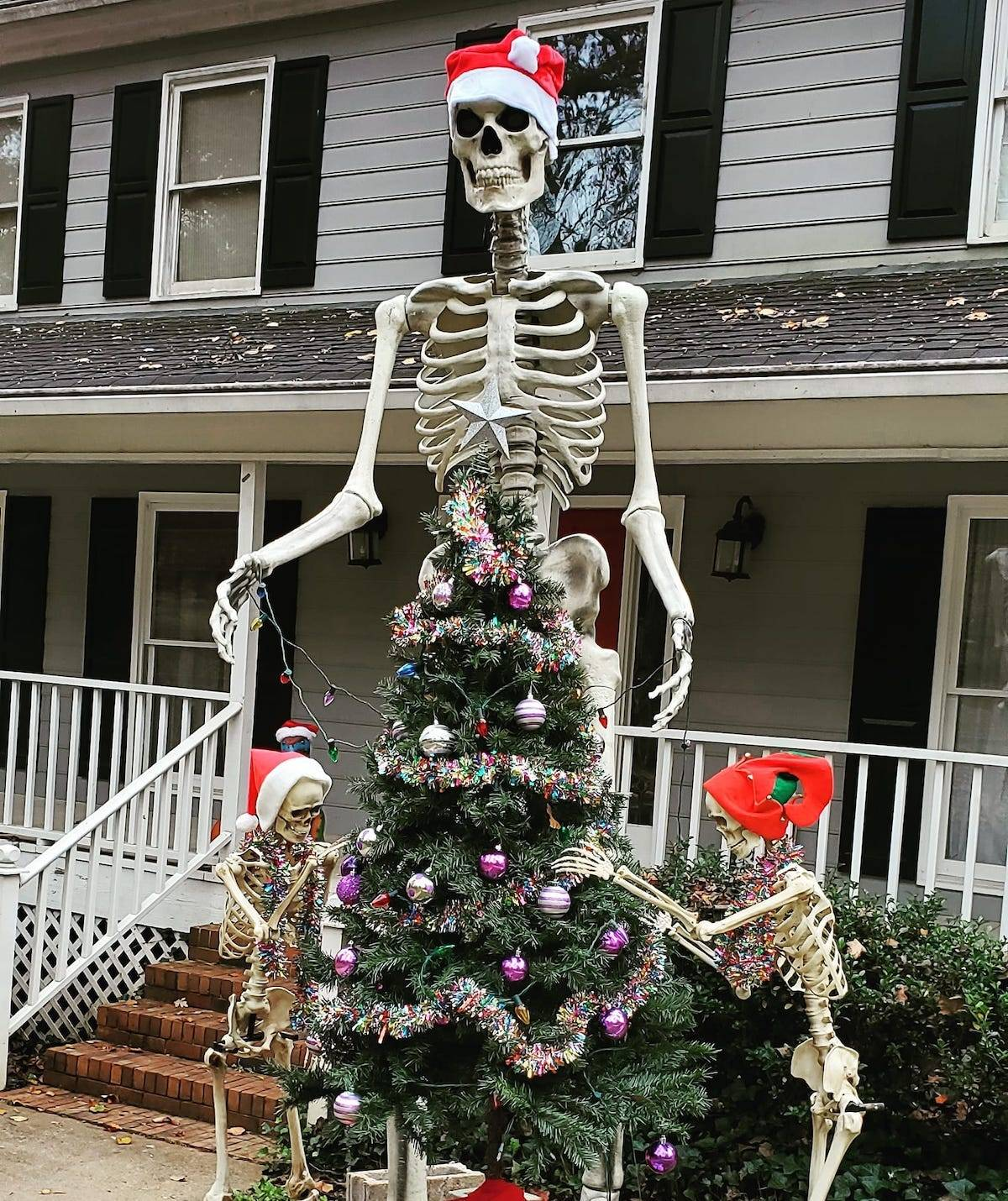 People Didn T Think About How They D Store These Giant Skeletons After Halloween So They Got Creative Business Insider India