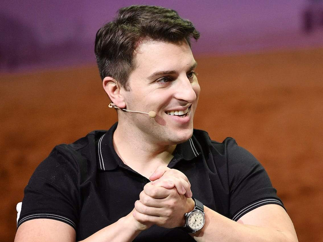 Watch Airbnb CEO Brian Chesky's speechless reaction to ...