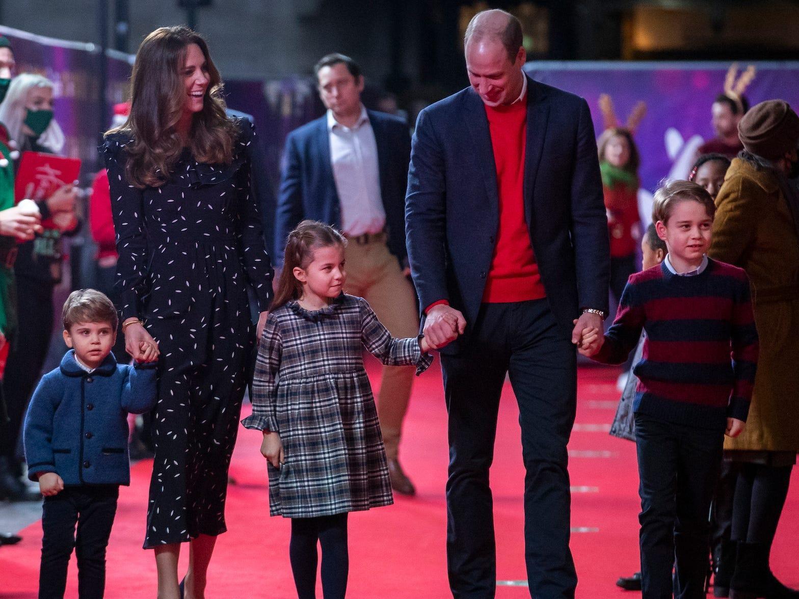 Prince George, Princess Charlotte, and Prince Louis walked ...