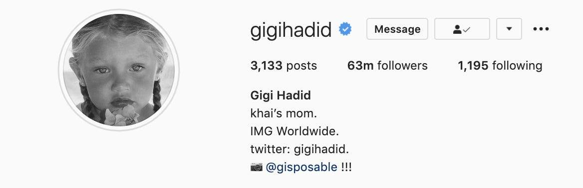 Gigi Hadid has finally revealed the name of her and Zayn Malik's 4-month-old daughter
