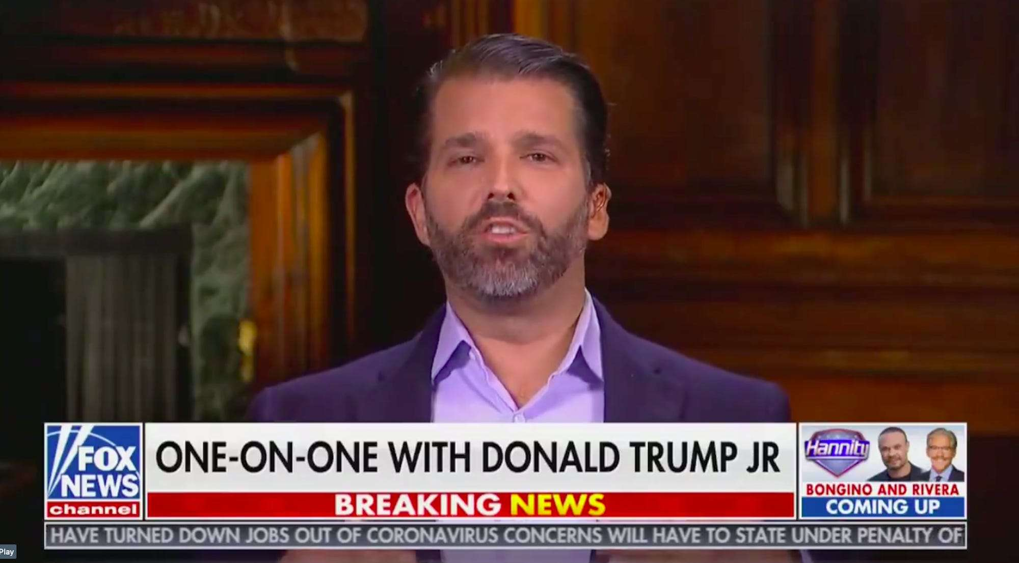 Don Jr. slammed Republicans who 'lose gracefully' and said that Trump showed 'you can actually push back'