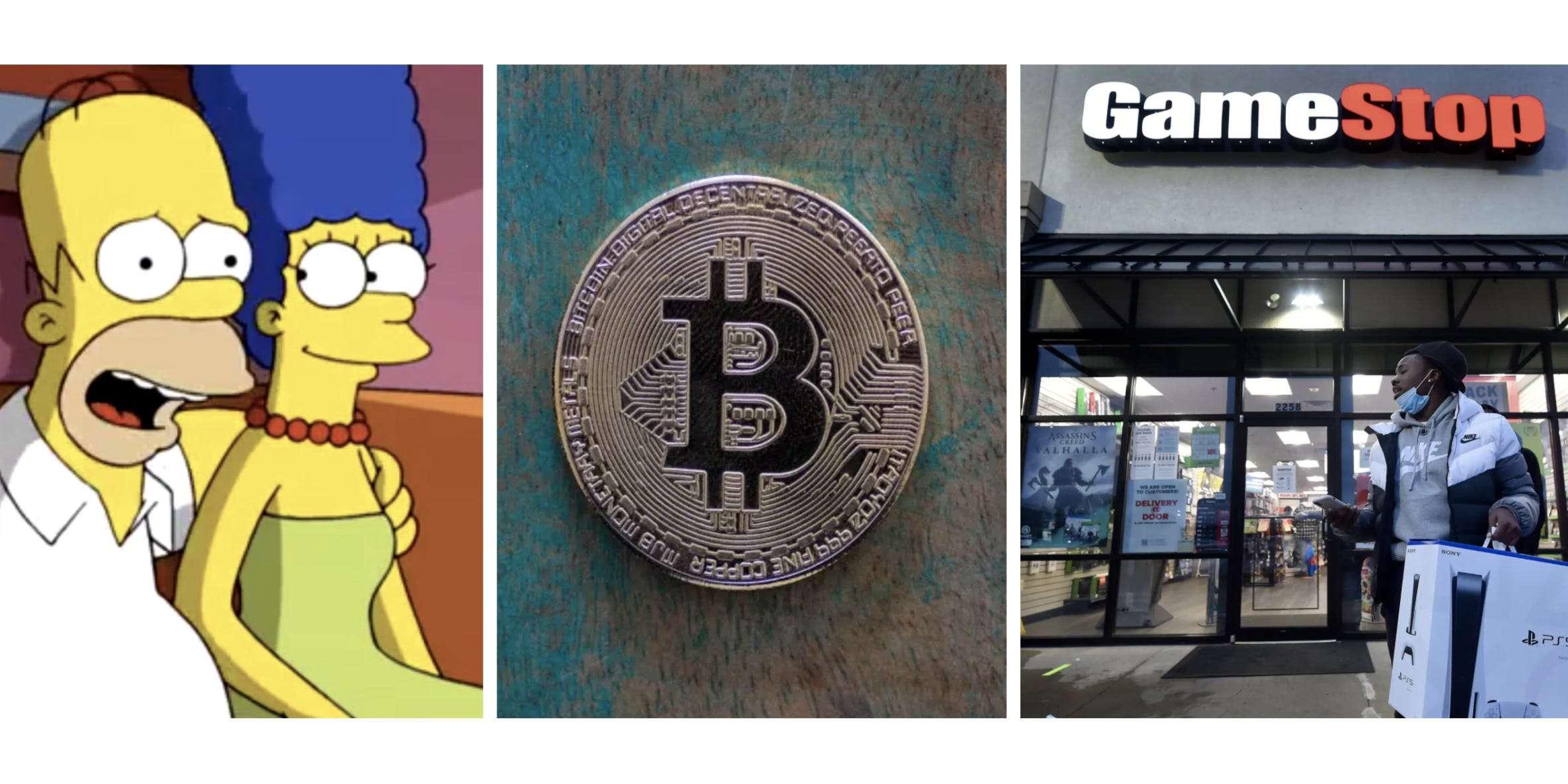 bitcoin simpsonų kilimas ir kritimas