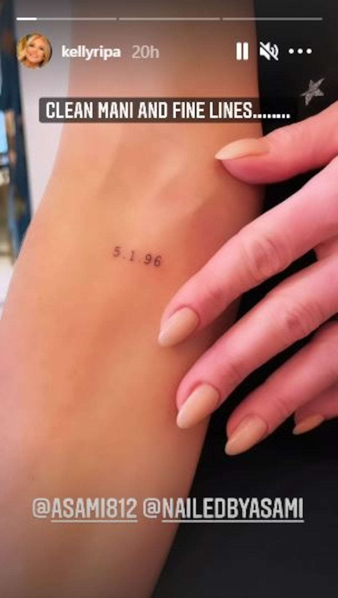 Kelly Ripa marked 25 years of marriage with Mark Consuelos by getting a tattoo of their wedding date